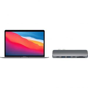 Apple MacBook Air (2020) MGN63N/A Space Gray + Satechi usb C hub