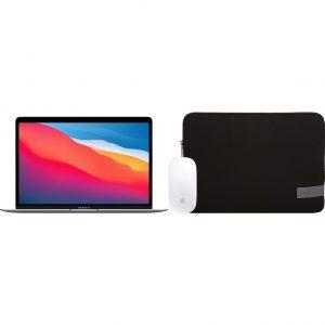 Apple MacBook Air (2020) 16GB/512GB Apple M1 GPU Space Gray + Muis + Laptophoes