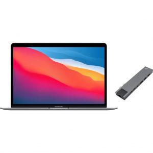 Apple MacBook Air (2020) MGN63N/A Space Gray + Bluebuilt Docking Station