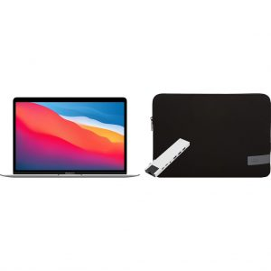 Apple MacBook Air (2020) MGN93N/A Zilver + Docking Station + Laptophoes