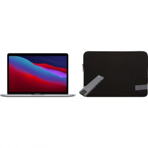 """Apple MacBook Pro 13"""" (2020) 16GB/256GB Apple M1 Space Gray + Docking Station + Laptophoes"""
