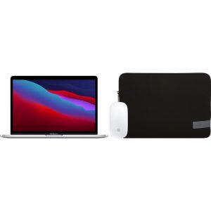"Apple MacBook Pro 13"" (2020) 16GB/256GB Apple M1 Zilver + Muis + Laptophoes"