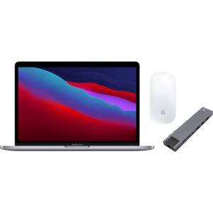 """Apple MacBook Pro 13"""" (2020) MYD82N/A Space Gray + Docking Station + Muis"""